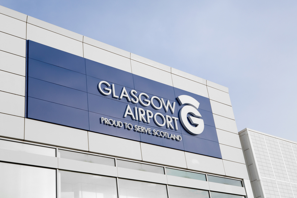 Glasgow Airport Brand Signage